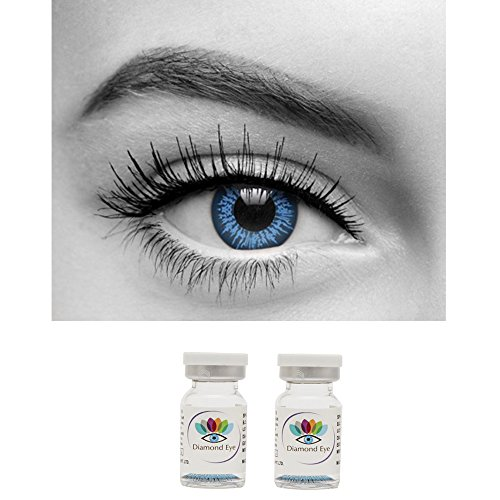 9d043b4e378 Diamond Eye Yearly BLUE Colored Contact Lenses 0 Power By T R Lens ...