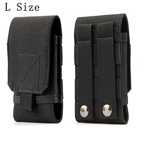 Tactical MOLLE Smartphone Holster, Universal Army Mobile Phone Belt Pouch EDC Security Pack Carry Accessory Kit Blowout Pouch Belt Loops Waist Bag Case For iPhone 6/6s 6plus Samsung Galaxy S7 S6 edge Mobile Accessory Pack
