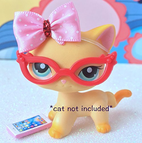 littlest-pet-shop-lps-bow-glasses-phone-accessories-lot-cat-not-included