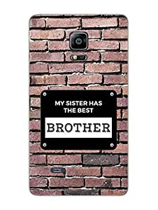 The Best Brother - Rakshabandhan - Typography - Hard Back Case Cover for Samsung Note 4 Edge - Superior Matte Finish - HD Printed Cases and Covers