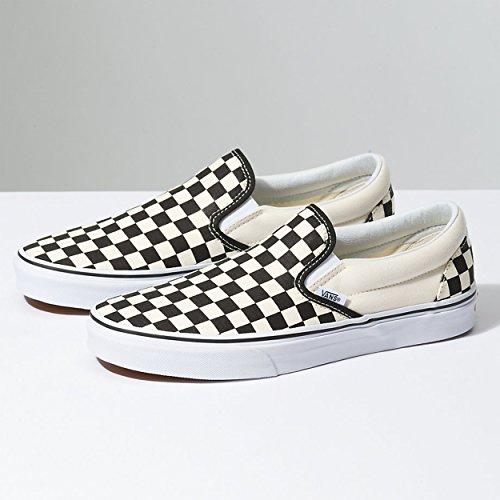 Vans U Classic Slip-on, Baskets mode mixte adulte Black Off White Checkerboard
