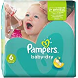 Pampers - Baby Dry - Couches Taille 6 (+15 kg) - Pack économique 1 mois de consommation x124 couches