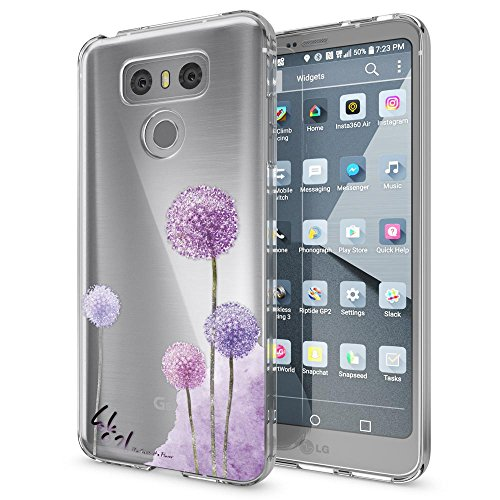 NALIA Handyhülle kompatibel mit LG G6, Motiv Design Ultra-Slim Silikon Case Cover, Crystal Schutzhülle Handy-Tasche Dünn, Muster Etui Backcover Hülle Smart-Phone Bumper, Designs:Dandelion Pink