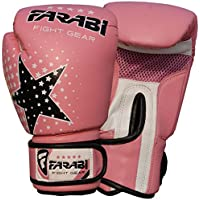 Farabi Niños guantes de boxeo, MMA, Muay Thai Junior punch bag Mitts rosa 6oz