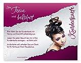 Kundenkarten (50 Stück) für Friseur, Hairstyling, Kosmetik, Wimpern - Bonuskarten