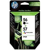 HP 56/57 Combo Pack - Cartouche d'impression - 1 x noir, couleur (cyan, magenta, jaune)