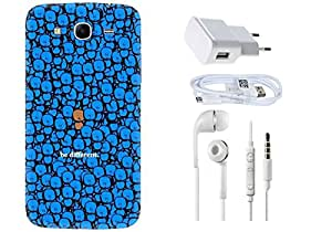 Spygen Samsung Galaxy Mega 5.8 I9150 Case Combo of Premium Quality Designer Printed 3D Lightweight Slim Matte Finish Hard Case Back Cover + Charger Adapter + High Speed Data Cable + Premium Quality Handfree