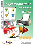 Your Design Injekt Magnetfolie: 20 Inkjet-Magnetfolien A4 matt/weiß (Magnetfolie bedruckbar)