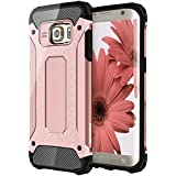 Coque Galaxy S7 Edge, Pasonomi® [Rugged Armor] protectrice Galaxy S7 Edge Coque Housse Etui pour Samsung Galaxy S7 Edge, Or Rose