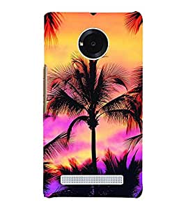 Scenery of Ocean at Evening with Horizon 3D Hard Polycarbonate Designer Back Case Cover for YU Yuphoria :: YU Yuphoria YU5010
