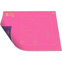 ANSIO A2 de doble cara – 5 capas alfombrilla guía para cortar Imperial/métrica 22.5 pulgadas x 17 pulgadas/ 59 cm x 44 cm – Super Rosa/Royal Purple