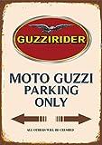 Targa in metallo Parcheggio Moto Guzzi Parking Only 20x 30cm reklame Retro Targa in 1027