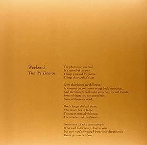 The'81 Demos [Vinyl Single]