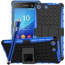 Reforzada con carcasa de soporte para Sony Xperia M5 + + Protector de pantalla y lápiz capacitivo/gastos de envío gratis