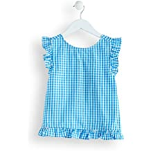 RED WAGON Maglia Gingham con Rouches Bambina