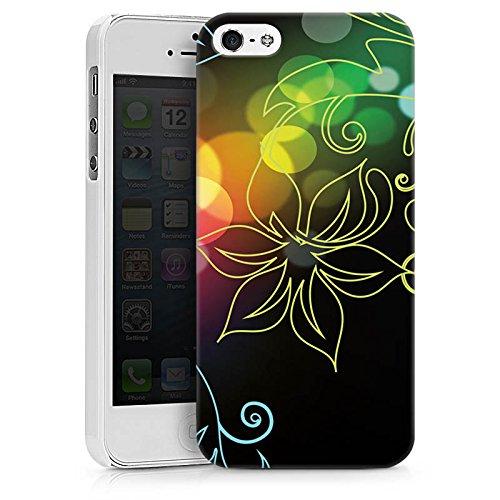 Apple iPhone X Silikon Hülle Case Schutzhülle Blumen Licht Bunt Hard Case weiß