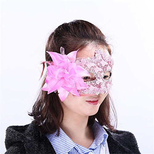 oween Weihnachtsmasken Make-up Tanz Show Party Catwalk Leder Stoff Maske Mädchen Maske Maskerade Masken Geschenk Pack von 4 , 2 (Devil Cat-halloween-make-up)