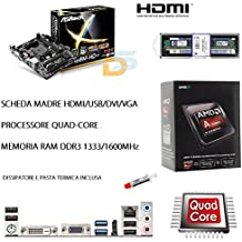 UPGRADE PC SCHEDA MADRE HDMI + CPU QUADCORE 4,20 GHZ + RAM 8GB BUNDLE KIT GAMING