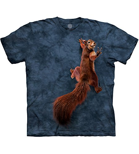 Erwachsen Peace Squirrel Tier T Shirt, Grau, 3XL ()