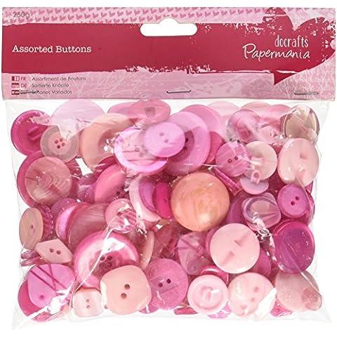 Papermania 250 G varios colores botones, Rosa