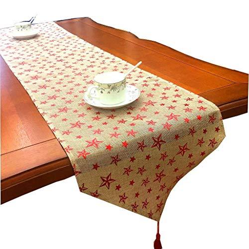 Daonanba Décoration de Noël Chemin de Table de Noël Décoration de Table de Vacances pour la Maison, hôtel, Restaurant, café, fête (2#)