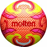 Molten Ballon de beach volley Taille 5 Orange/Jaune/Rose