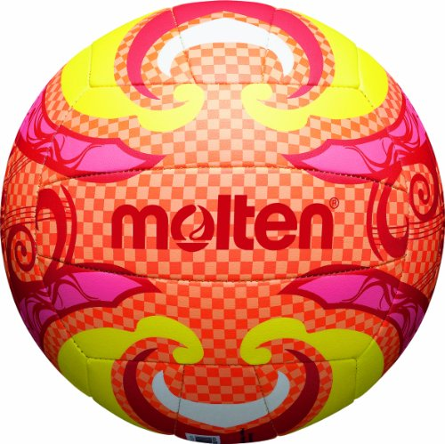 MOLTEN Balón de volley playa multicolor orange/gelb/pink Talla:5