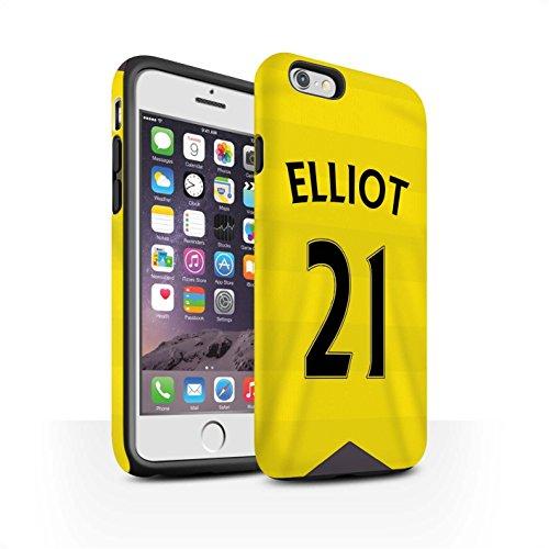 Offiziell Newcastle United FC Hülle / Matte Harten Stoßfest Case für Apple iPhone 6S / Pack 29pcs Muster / NUFC Trikot Home 15/16 Kollektion Elliot