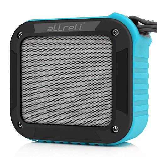 [El mejor altavoz bluetooth de regadera de todos] Altavoz Bluetooth Portable aLLreLi Rockman-S con hasta 10 horas de duración - azul