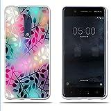 Fubaoda Coque Nokia 5, [Verre Semi Perméable] Transparent Silicon Transparent TPU...