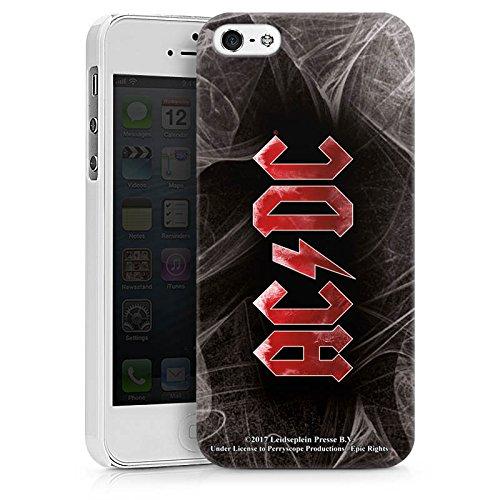 Apple iPhone 7 Silikon Hülle Case Schutzhülle ACDC Logo Merchandise Hard Case weiß
