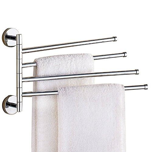 Weare Home Modern Einfach Silbern Chrome Finish 4-ärmig Handtuchhalter Handtuchstange Badetuchhalter Badezimmer Accessoires Zubehör Wandmontag aus alle Messing