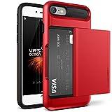 """Coque iPhone 7, VRS Design [Damda Glide] [Rouge] - [Porte coulissante semi-automatique][Housse de Protection][Fente pour Carte][Anti Scratch Etui][Anti Chocs Case] Pour Apple iPhone 7 4.7"""""""