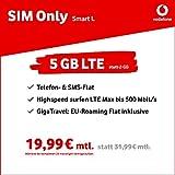Vodafone Smart L 5GB LTE Max mit bis zu 500 Mbit/s SIM Only [AMAZON EXKLUSIV]
