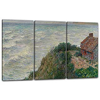 Canvas Print 3 parts(120x80cm): Claude Monet - Fisherman's house at Petit Ailly