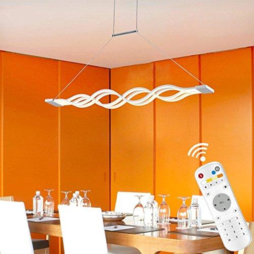 KJLARS LED Pendelleuchte, esstisch Hängelampe Wohnzimmer Küche LED-Pendellampe Moderne Aluminium Hängeleuchte ,höhenverstellbar,Pendellänge maximum 120 cm (Dimmbar)