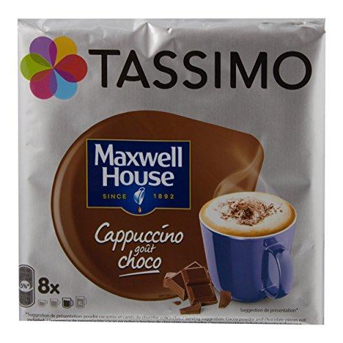 Tassimo Maxwell House Cappuccino Choco, Kaffee, Kaffeekapsel, T-Disc, Schokolade, 8 Portionen