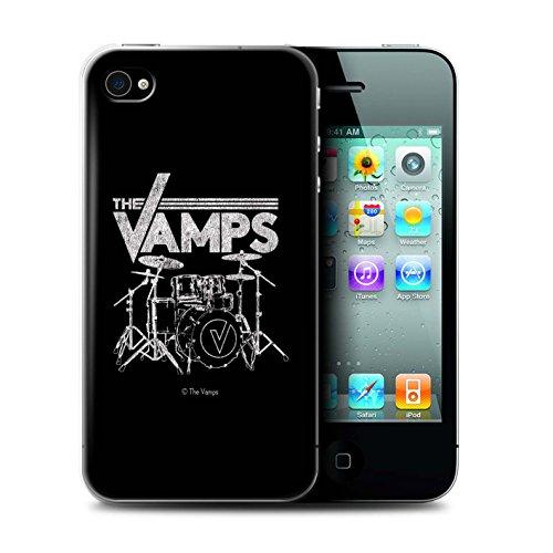 Officiel The Vamps Coque / Etui pour Apple iPhone 4/4S / Pack 6pcs Design / The Vamps Graffiti Logo Groupe Collection Batterie