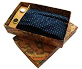 #10: Blacksmith Polka Navy Tie, Bowtie, Cufflink, Pocket Square Set for Men