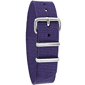 Pacific Time Unisex Nylon Uhrenarmband 10001