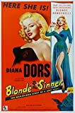 Poster Blonde Sinner Diana Dors Vintage Film Divers Tailles - Super A1 Taille 61 x 91...