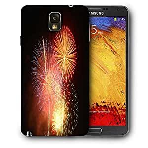 Snoogg Fireworks New Years Eve Printed Protective Phone Back Case Cover For Samsung Galaxy NOTE 3 / Note III