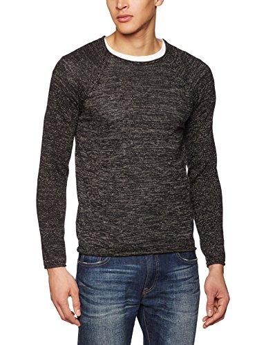 Blend Herren Langarmshirt 20702690, Schwarz (Black 70155), Large (Herstellergröße: L) (Herren Schwarz Wolle Blend)