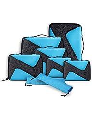 Packwürfel,Packing Cubes,Packtaschen im 8-teiligen Sparset, Ultra-leichte Gepäckverstauer