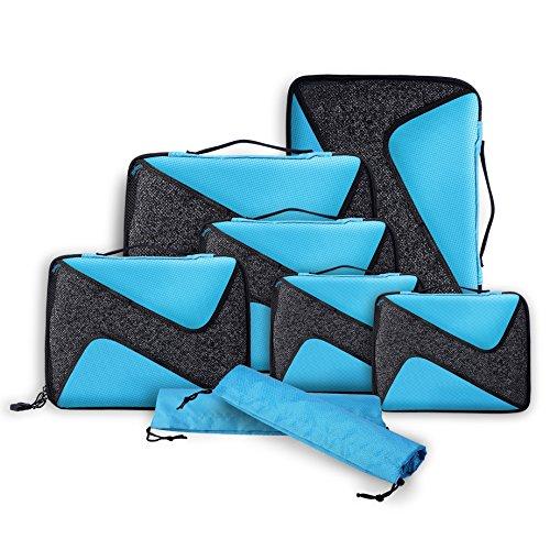 Rangement Bagage,Voyage,Sac de rangement bagage, emballage cubes, Sacoches en 8 parties Sparset, Gepäckverstauer ultra-léger TEPSMIGO