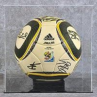 WANLAING Vitrina de fútbol - Base Negra, Vitrina de fútbol con Base de Caoba clásica, Soporte de exhibición de fútbol/zócalo Vertical, Perspex