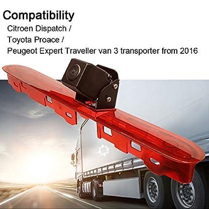 HD-Auto-Dritte-Dach-Top-Mount-Bremsleuchte-Kamera-Bremslicht-Rckfahrkamera-Transporter-fr-Citroen-DispatchToyota-ProacePeugeot-Expert-Traveller-from-2016