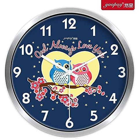 XB.T Regalos de Navidad Halloween Tarjeta regalo precioso Salón Creativa Relojes de las habitaciones están decoradas para silenciar el Reloj de pared Reloj de cuarzo moderno ,12 en Caja de