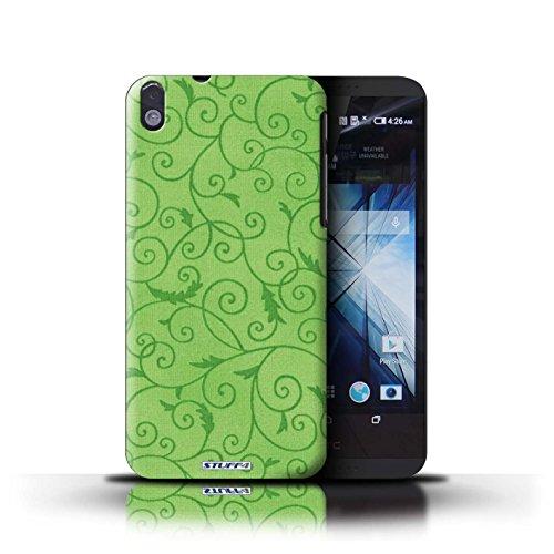 Kobalt® Imprimé Etui / Coque pour HTC Desire 816 / Rose conception / Série Motif de la vigne Vert