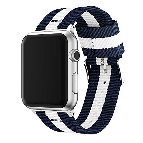 XIHAMA kompatibel für Apple Watch Nylon Armband Serie 5 4 3 2 1- 38mm/40mm und 42mm /44mm, Fitness armband Zubehör für iWatch